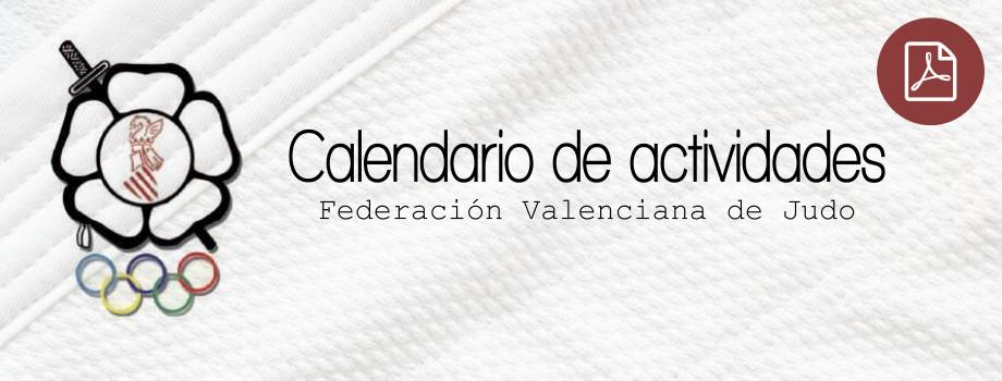Calendario actividades federación valenciana de judo